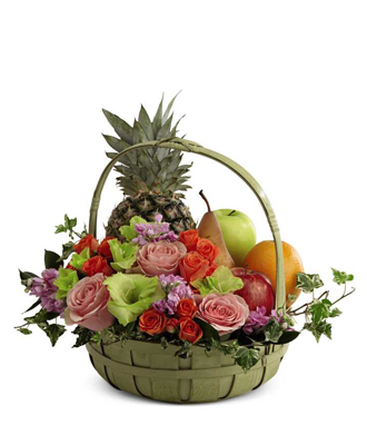 Fruit & Flowers Basket