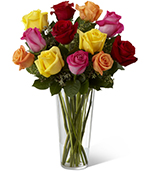 The Bright Spark Rose Bouquet